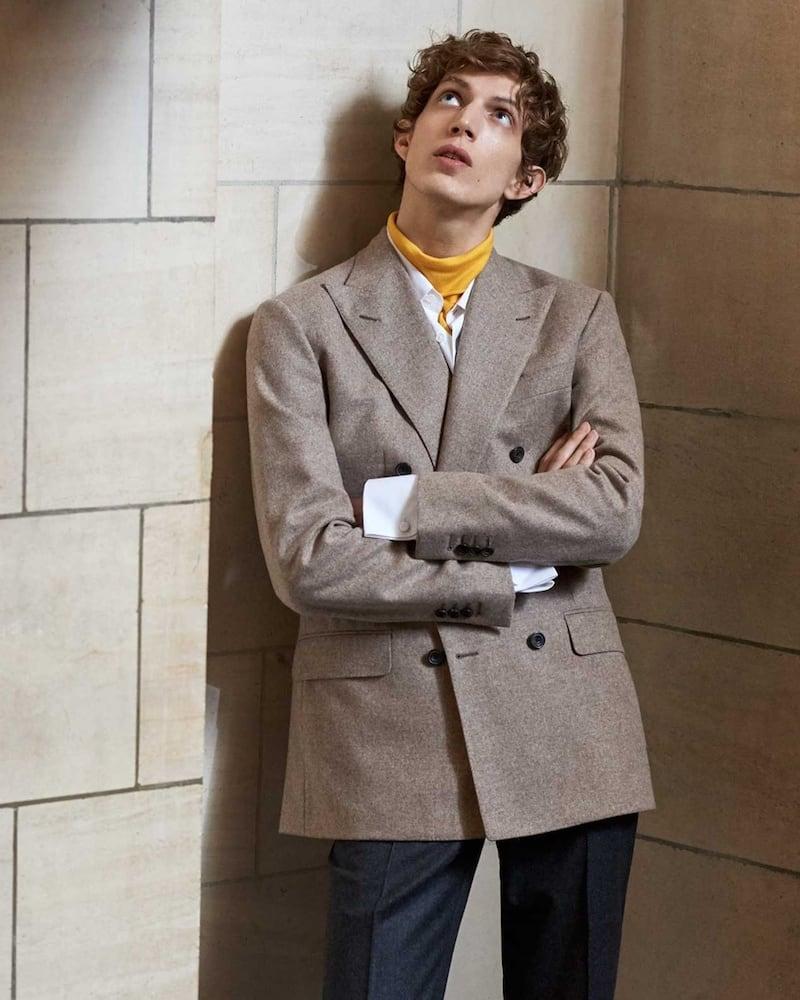 Thom Sweeney Double-Breasted Wool Blazer