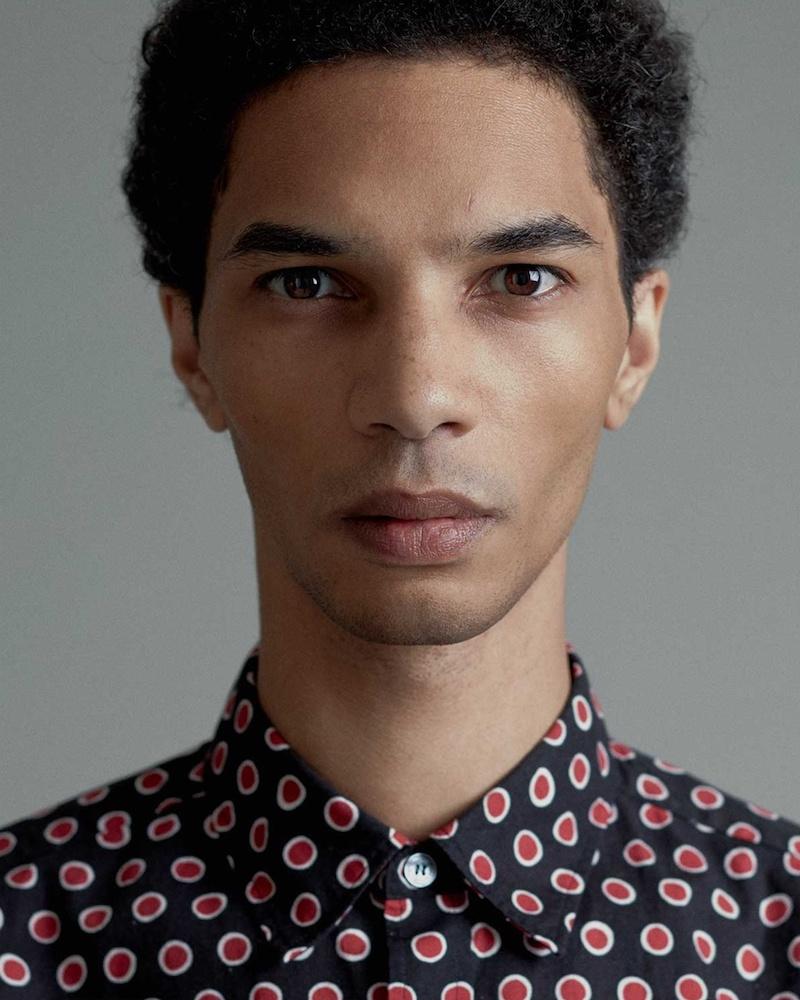 Burberry Polka-Dot Print Point-Collar Shirt