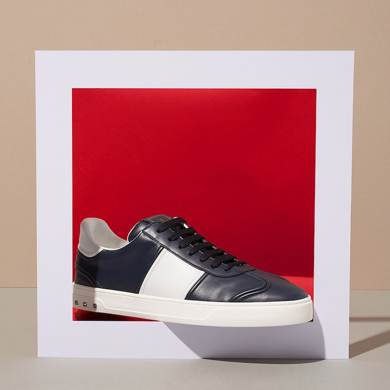 Valentino Fly Crew Low-Top Leather Trainers