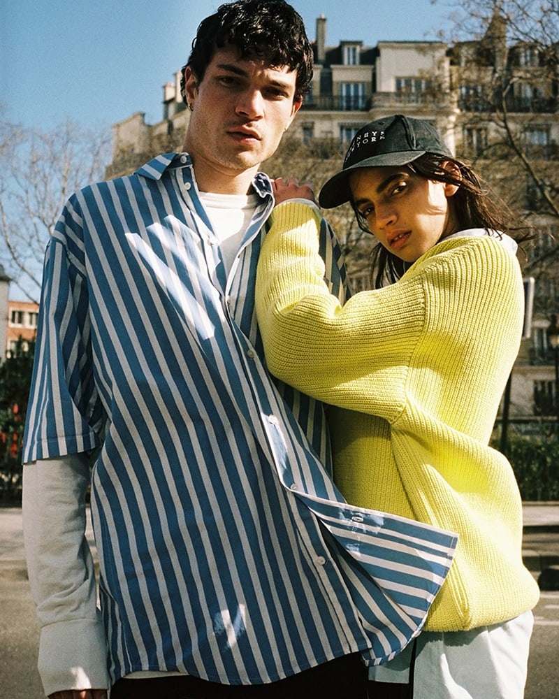 Martine Rose Striped Cotton Oversized Shirt