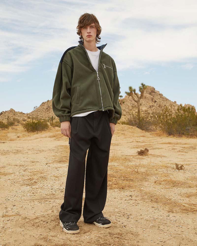 Y/Project Oversized High-Neck Fleece Jacket