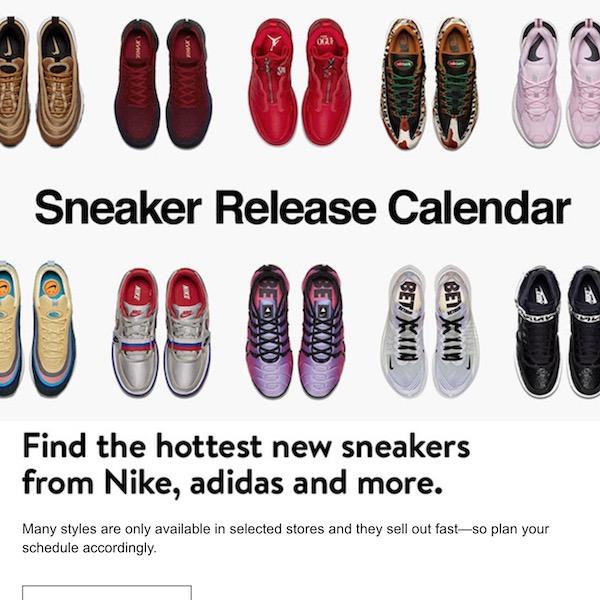 NORDSTROM Sneaker Release Calendar