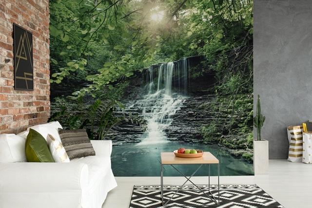 fototapete mit wasserfall raumdeko und optische vergr erung lifestyle for me and you. Black Bedroom Furniture Sets. Home Design Ideas