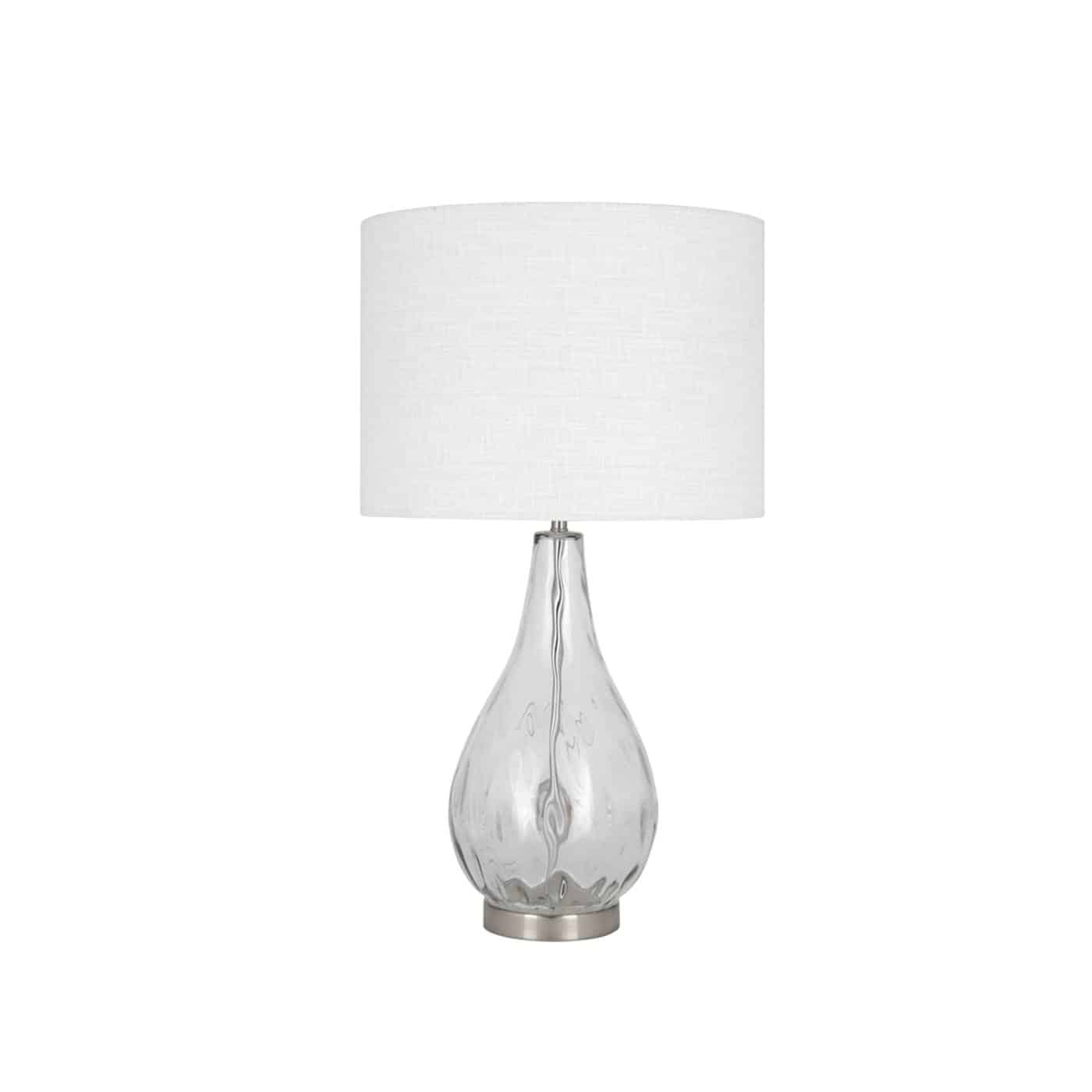 Clear Glass Table Lamp Lifestyle Furniture