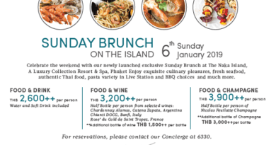 "THE NAKA ISLAND, A LUXURY COLLECTION RESORT & SPA, PHUKET HAS LAUNCHED ""SUNDAY BRUNCH ON THE ISLAND"""