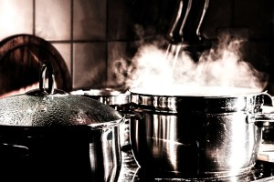 steam from a pot used in aromatherapy