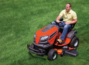 mosing lawn tracker mower