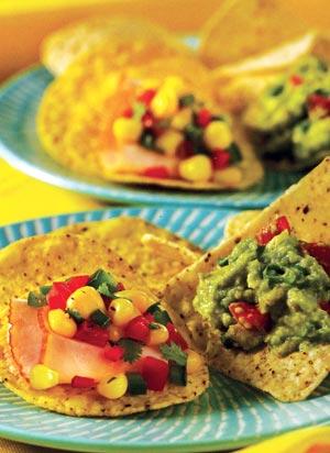 homemade salsa with tacos