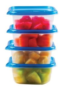 food storage in tupperware