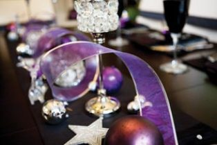 Holiday Party table decorations