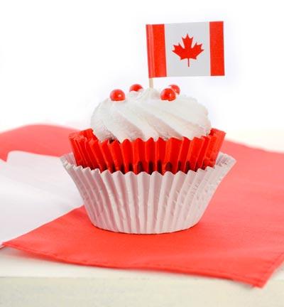 Canada day celebrations cupcake