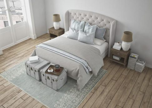 Bedroom using reclaimed wood