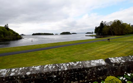 The lake at Ashford CAstle, in Ireland