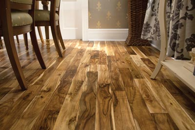 Laurentian Hardwood floors in dining room