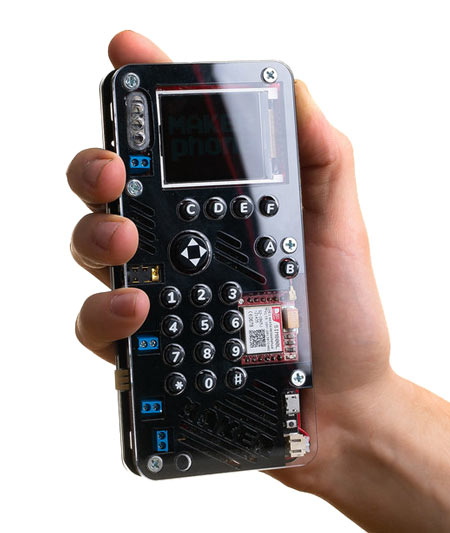 MAKERphone is a simple mobile phone you build yourself