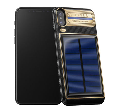 caviar solar powered iphone tesla
