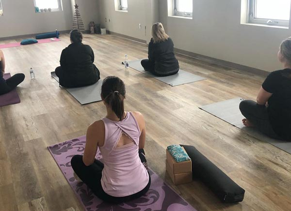 Yoga class at Anahata Yoga