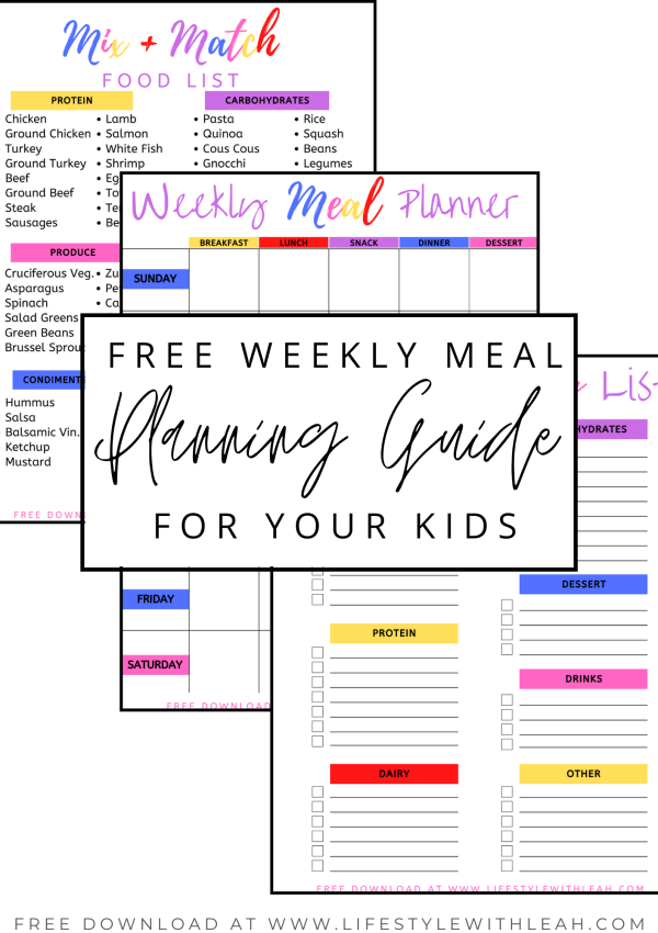 Free Weekly Meal Planning Guide for Your Kids!