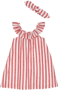 Striped Sundress and Bow