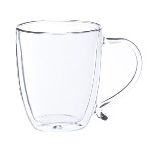 Large Glass Coffee Cup