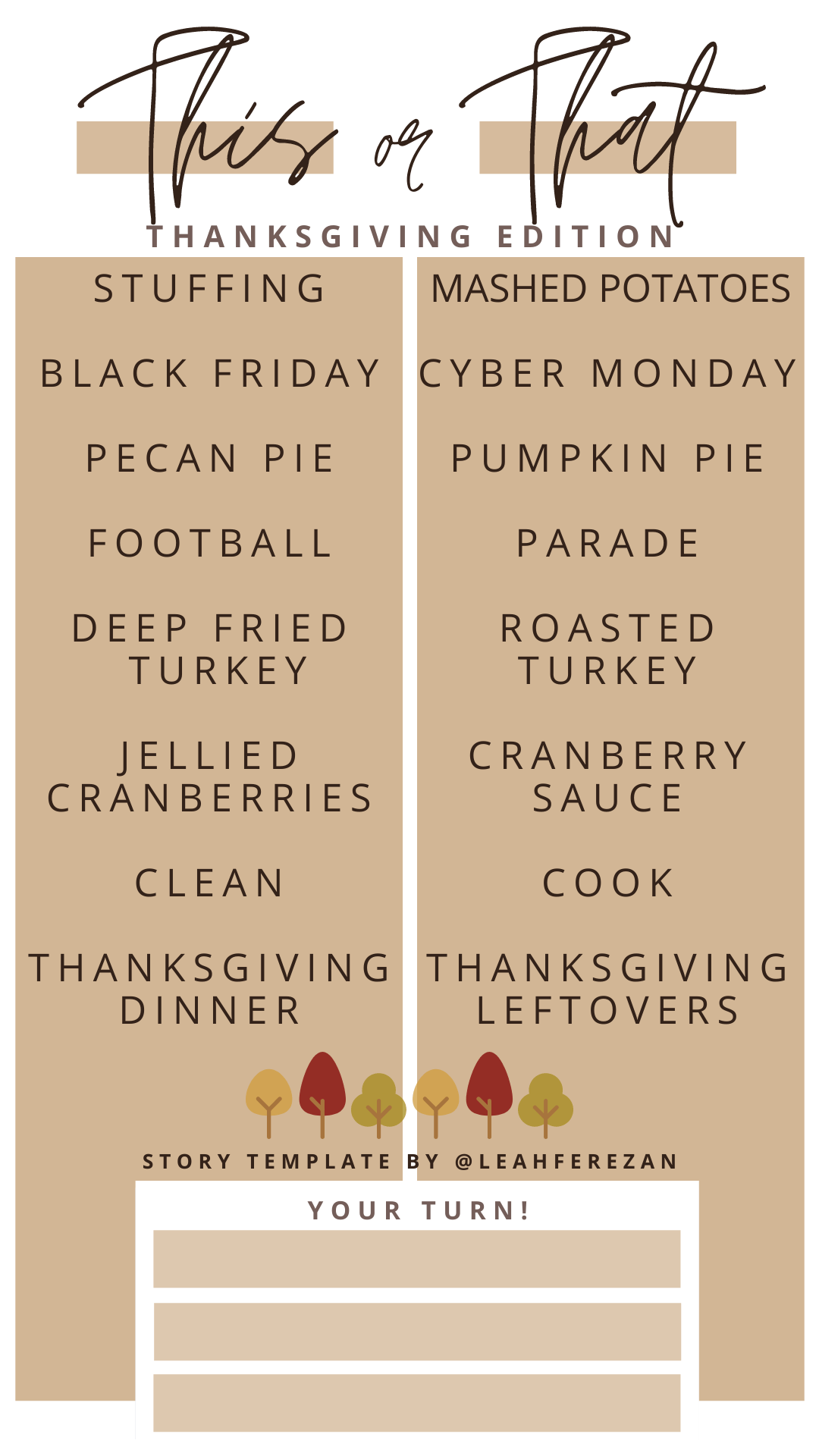 Thanksgiving Instagram Template