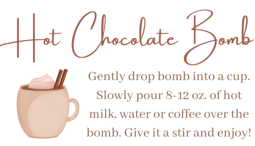 hot chocolate bombs free printable gift tags