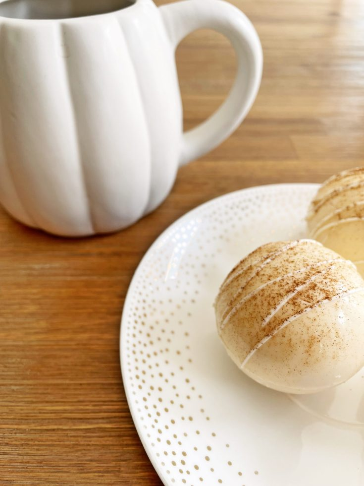 Pumpkin spice hot chocolate bombs