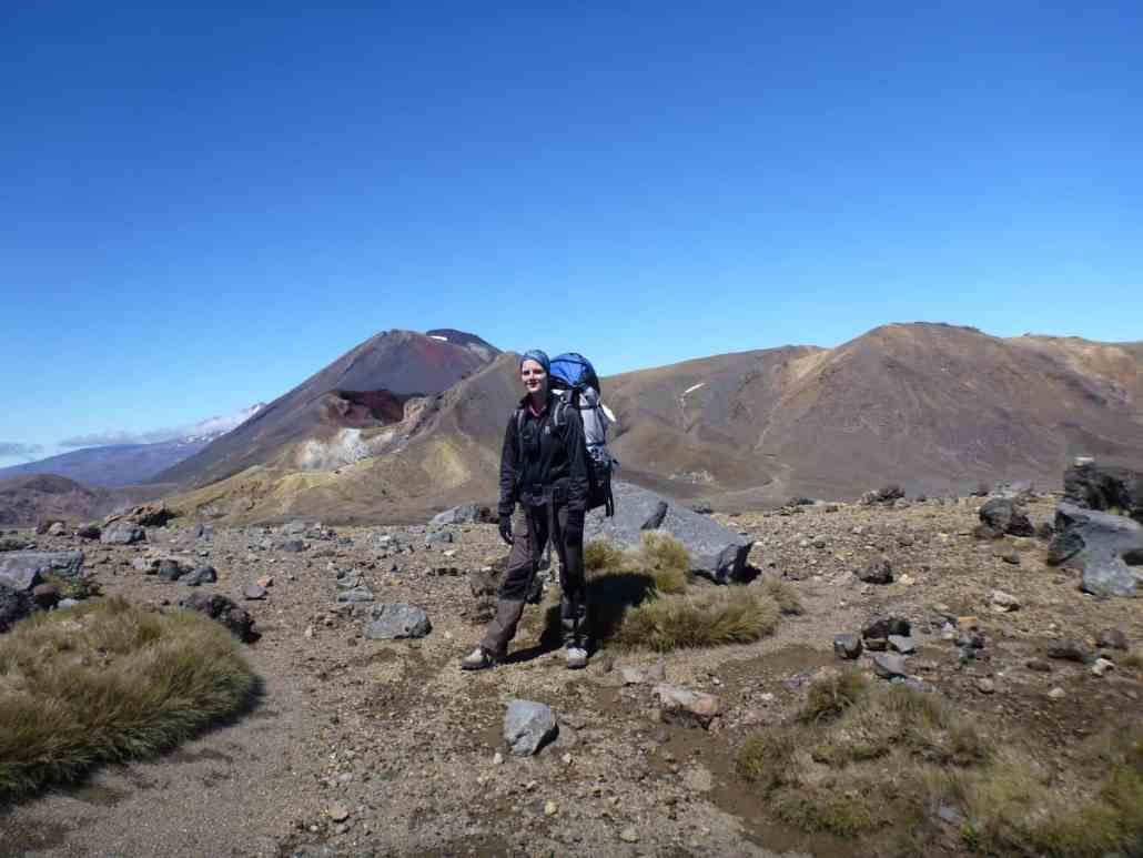 ME standing in front of Mount Tongariro in New Zealand