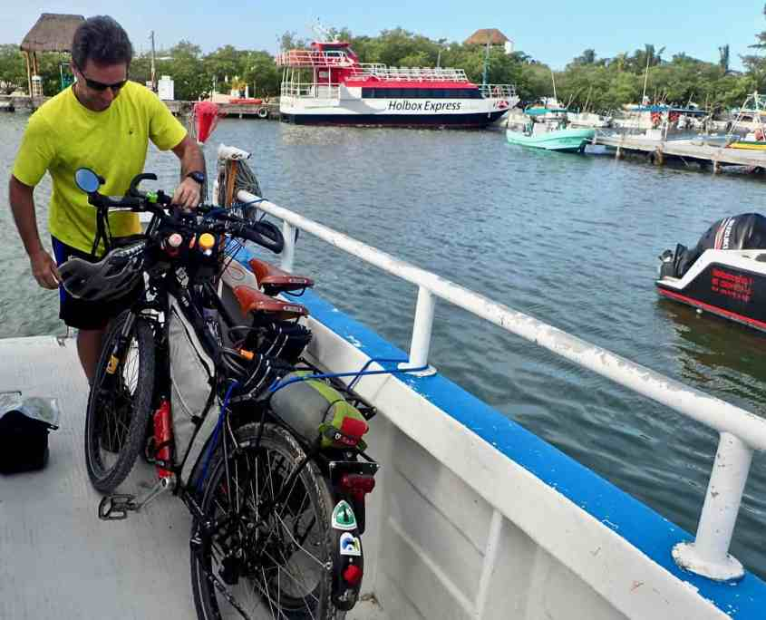 First experiences with bicycle touring - Our bicycles strapped to the ferry