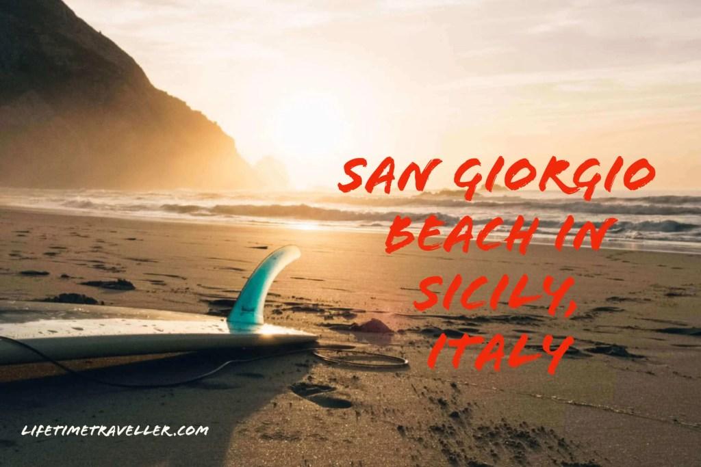 Best Beach in Sicily is San Giorgio Beach in Sicily, Italy