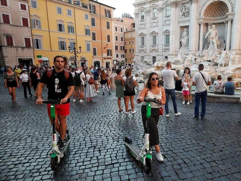 Lime electric scooter in Rome shared by Lifetime Traveller.