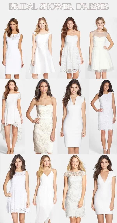 White Summer Bridal Shower Dresses | Life Unsweetened