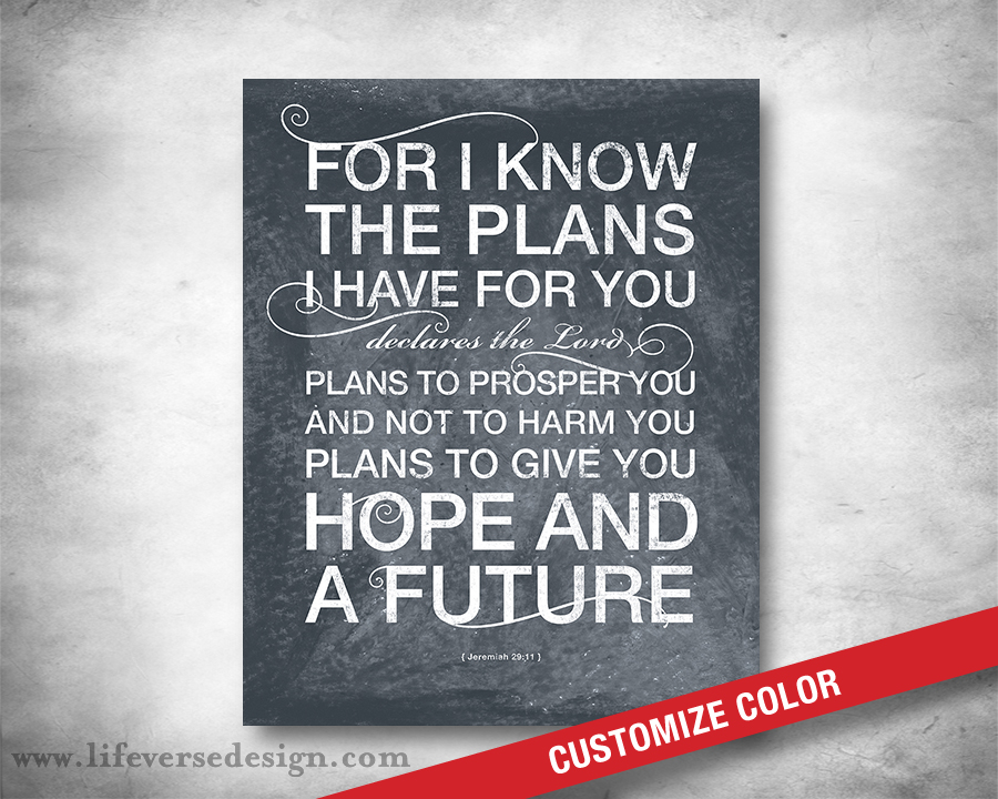 I Have Scripture Lord Plans Know Declares I You