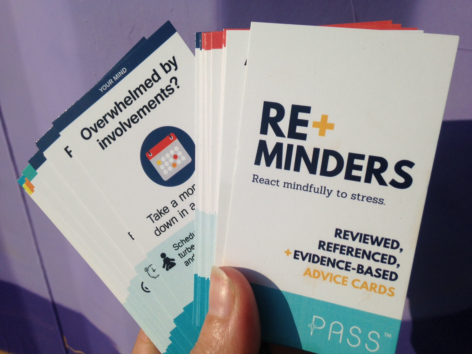 PASS RE+minder cards for Panic Anxiety Stress Support - Life Voice