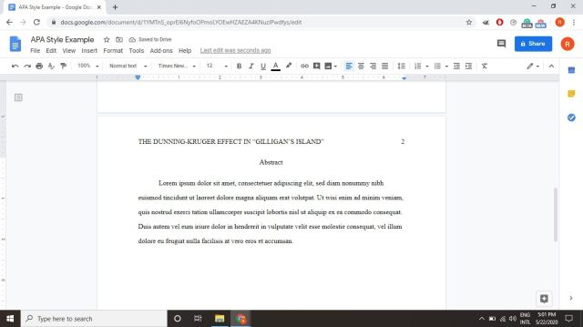 How to Use APA Format in Google Docs