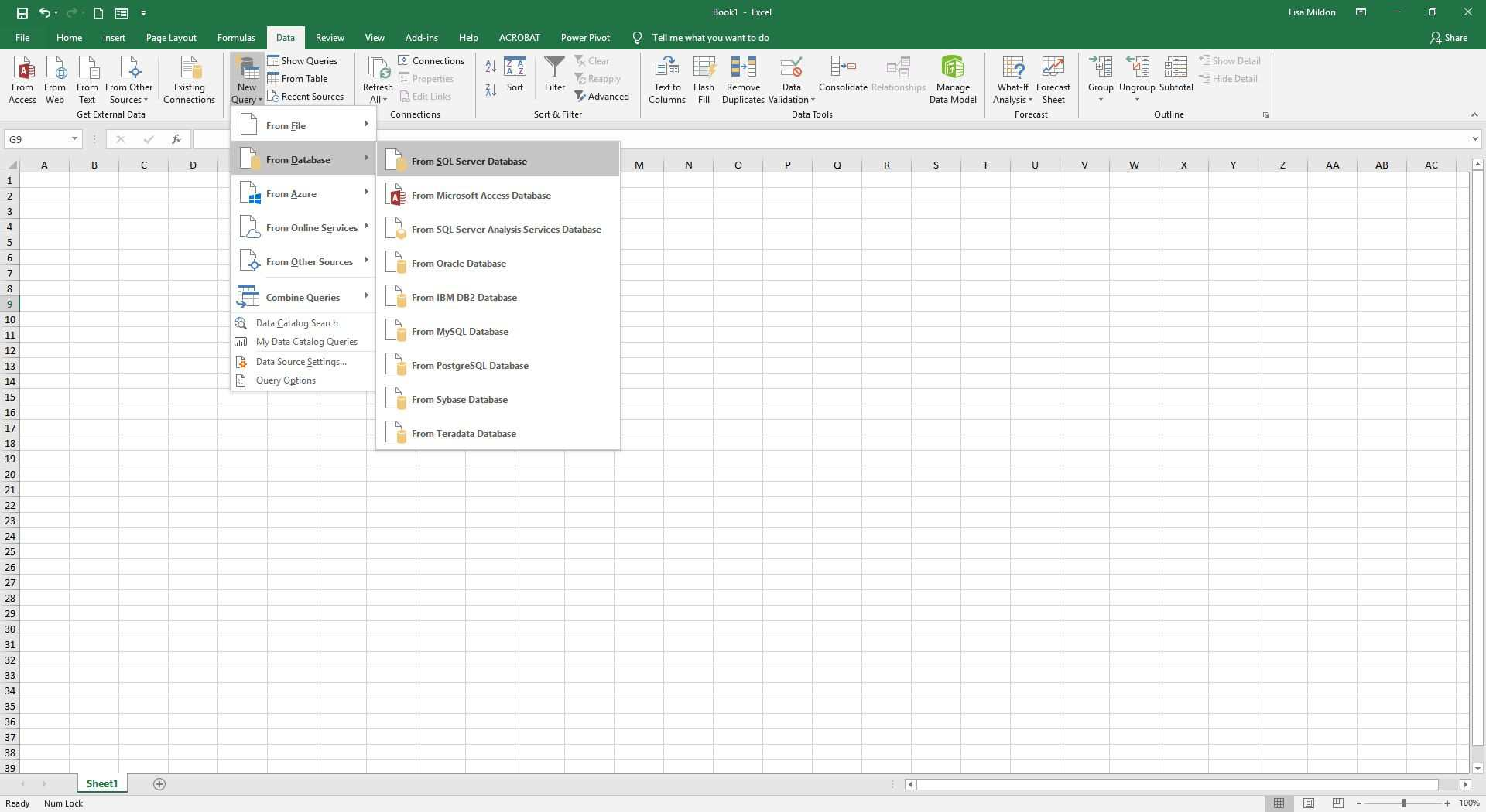 How To Connect Microsoft Excel To An Sql Server