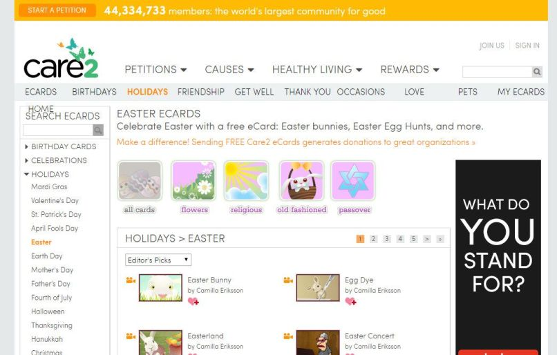 Care2 Easter Cards Com 9 Places To Find Free Online Ecards And Invites