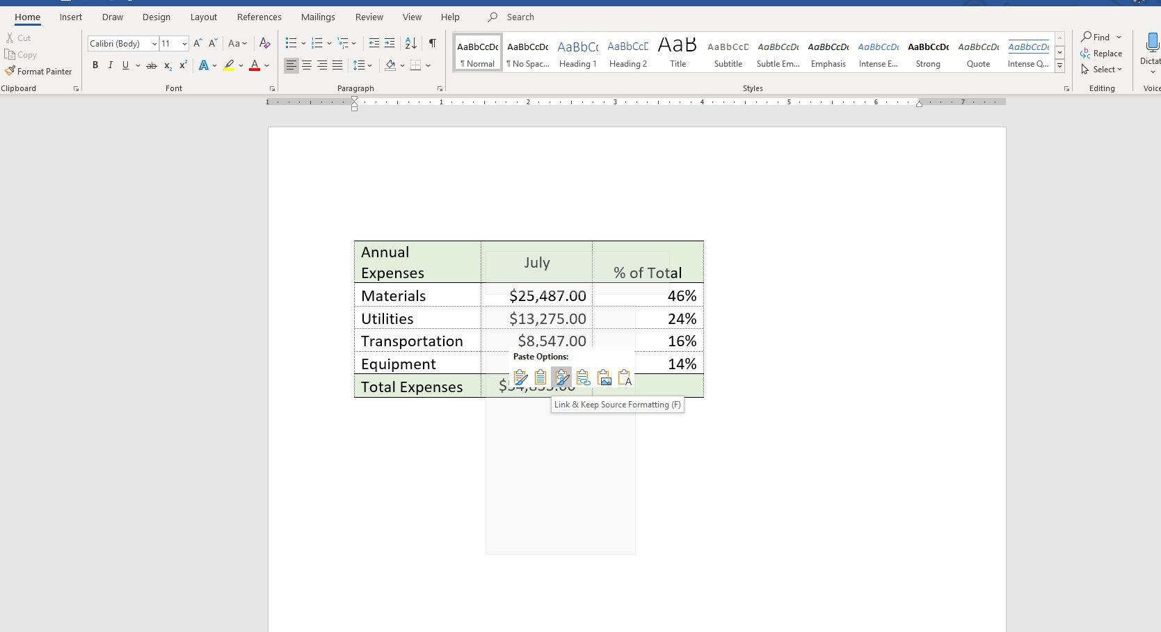 How To Link Excel Sheets To Word Documents And Keep It