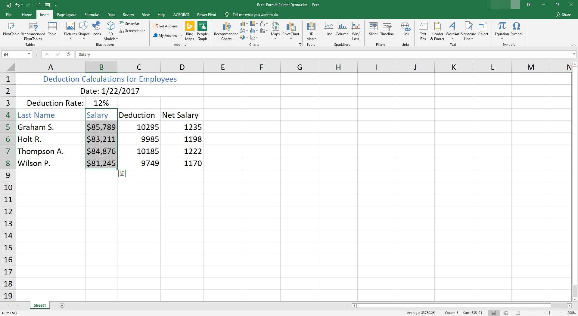 Excel Format Painter Copy Formatting Between Cells