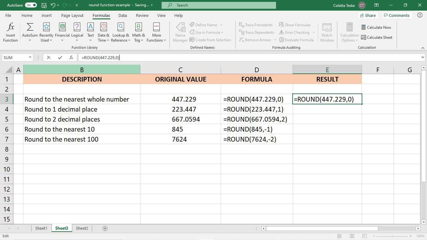 How To Use The Round Function In Excel