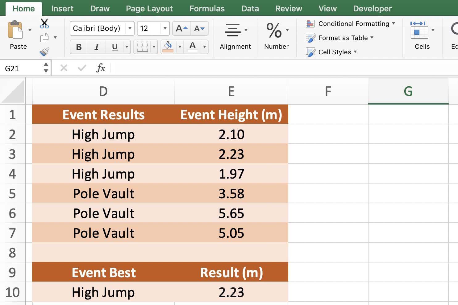 Excel Max If Array Formula