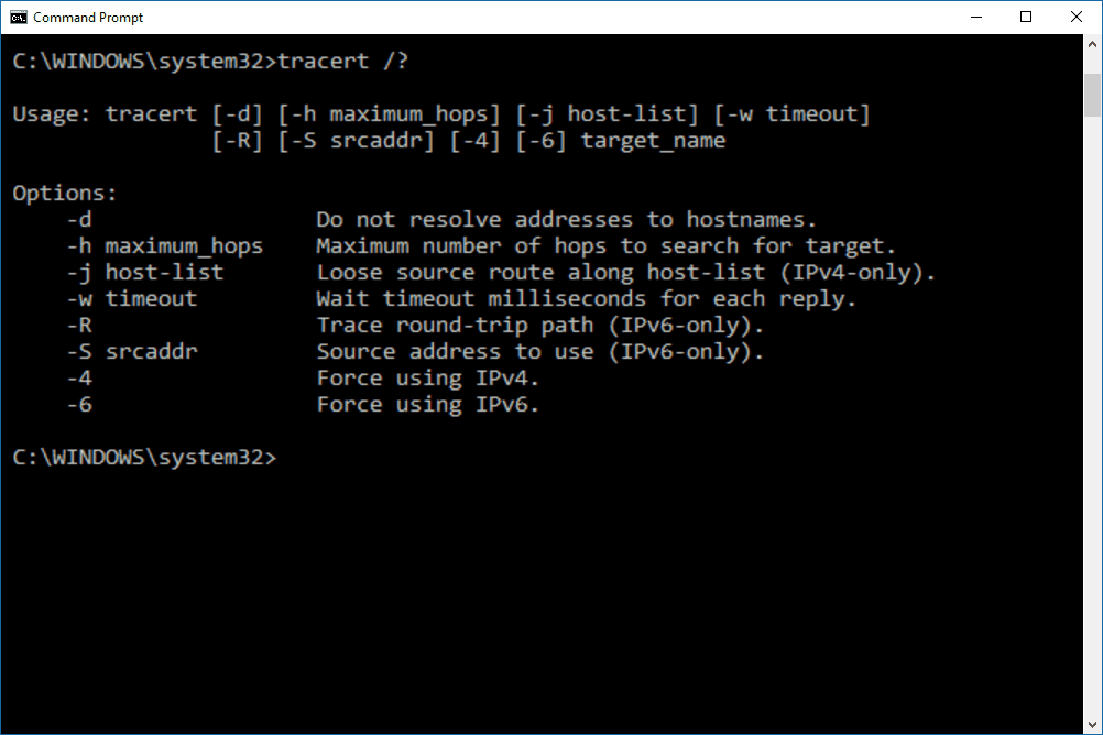 Tracert Command Examples Options Switches And More