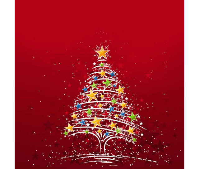 The Cool Christmas Tree Email Stationery Background Features A Tree Of Lights On A Red Background