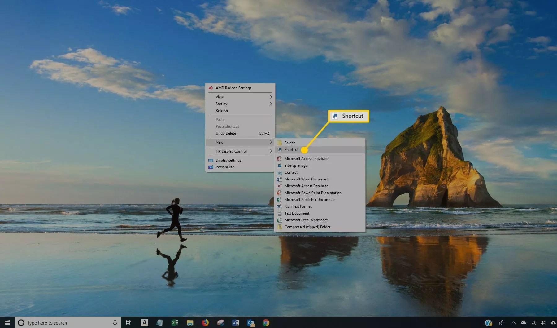 New Shortcut in Windows