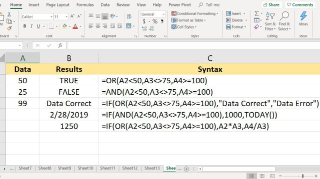 How to Use the AND, OR, and IF Functions in Excel