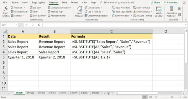Replace Data with Excel's SUBSTITUTE Function