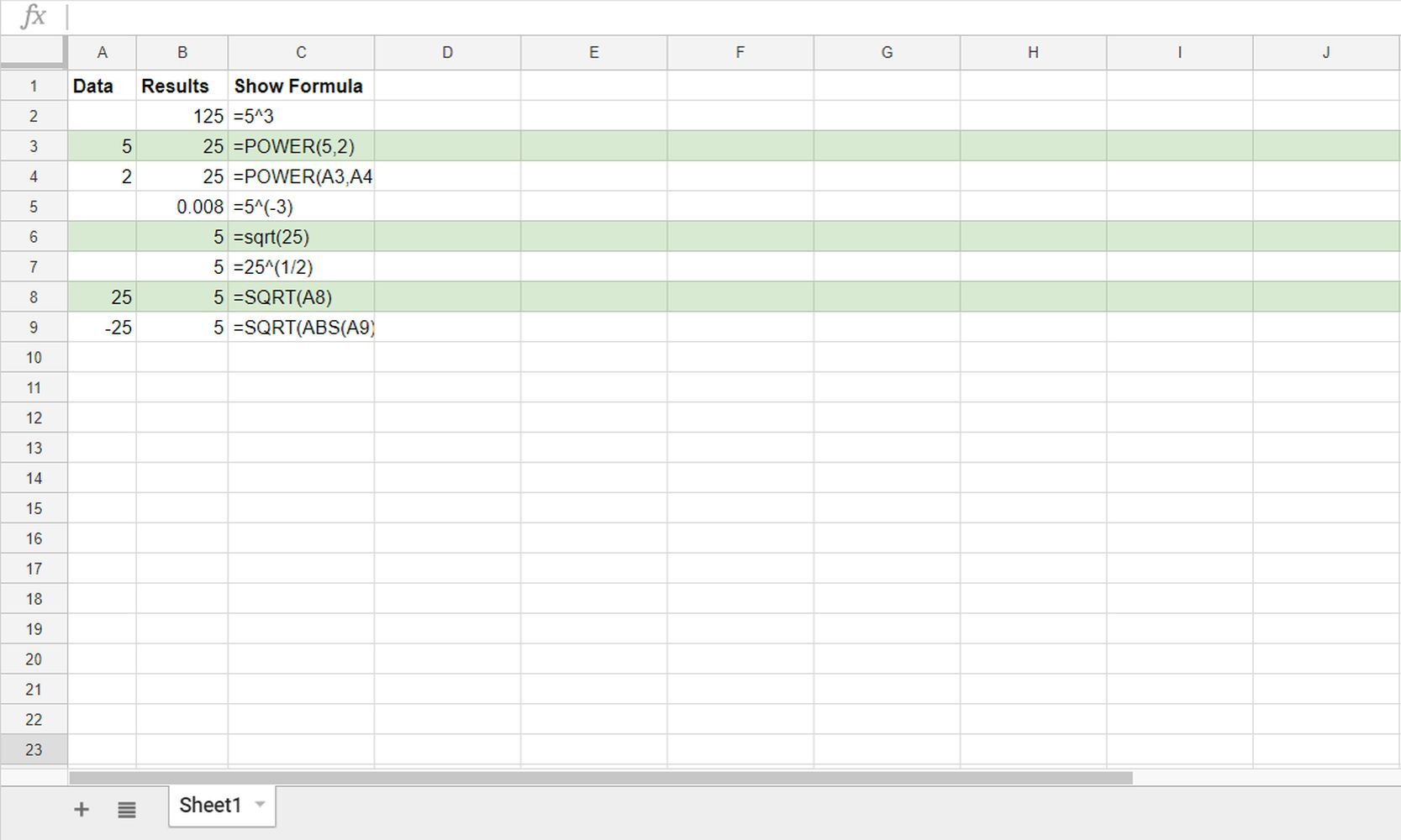 Show Or Hide Formulas In Sheets