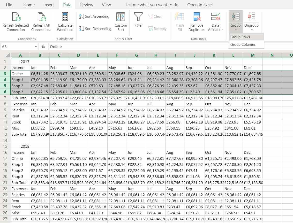 How To Group In Excel