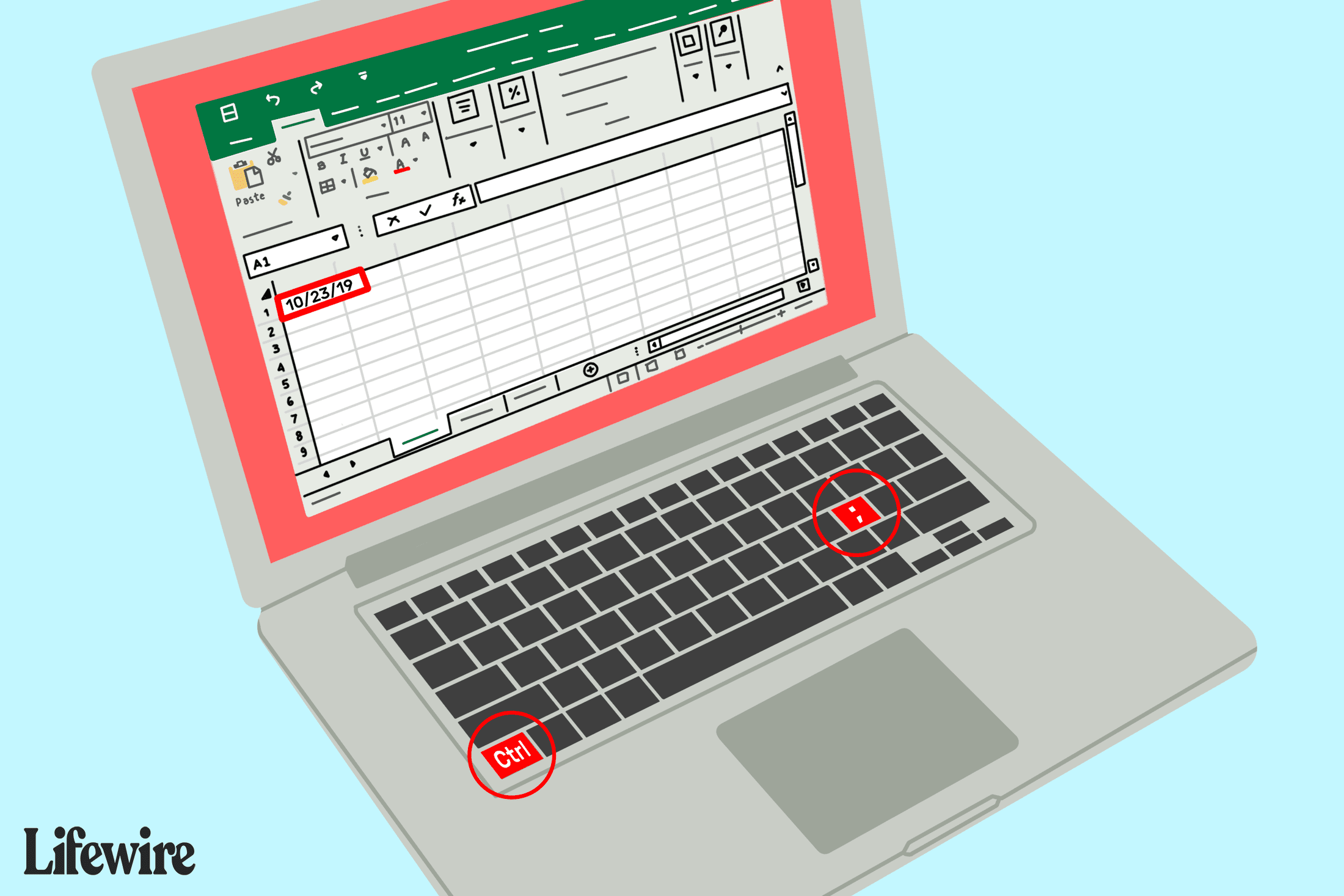 Add The Current Date Time In Excel Using Shortcut Keys