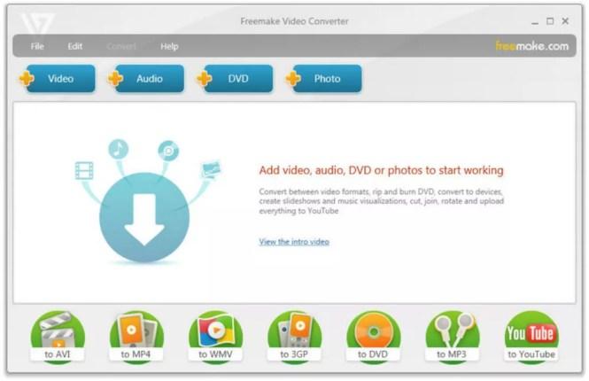 Freemake Video screenshot